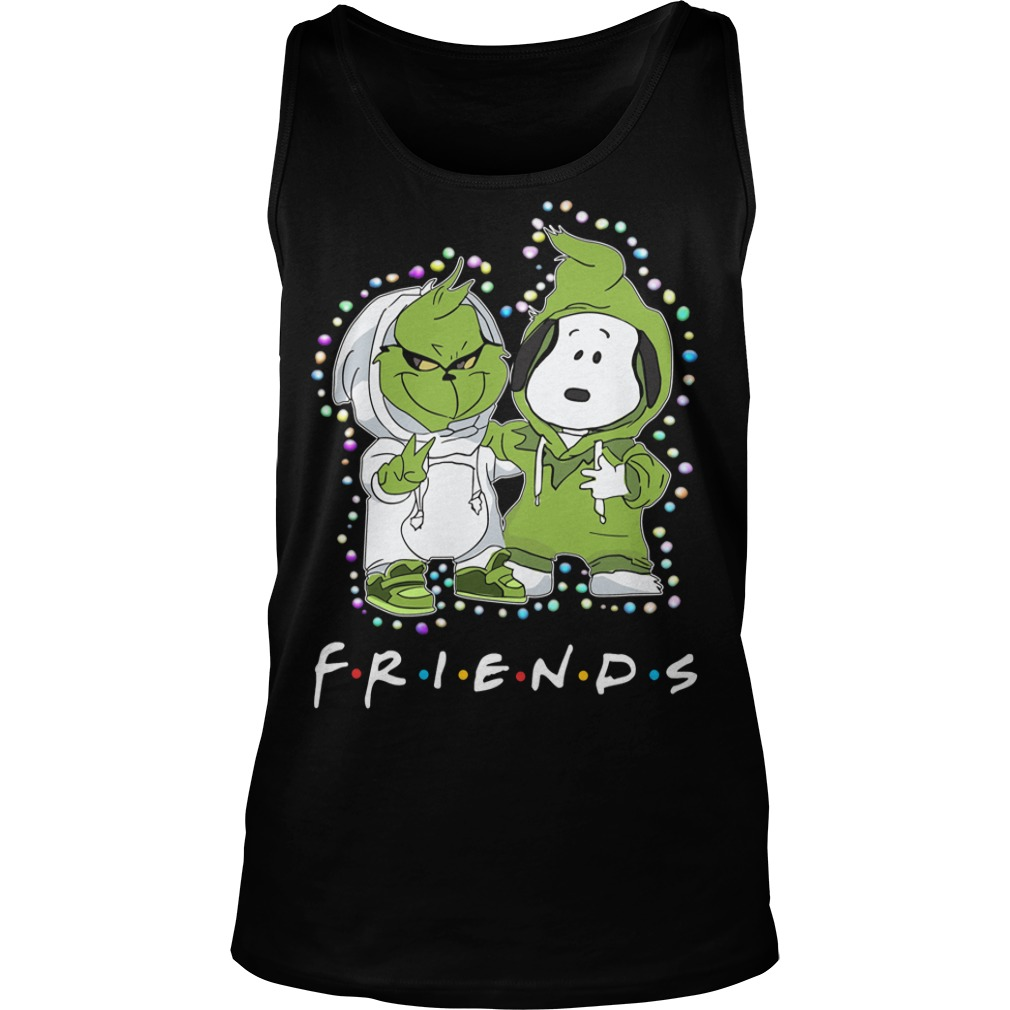 Baby Grinch and Snoopy Friends light Christmas Tank Top
