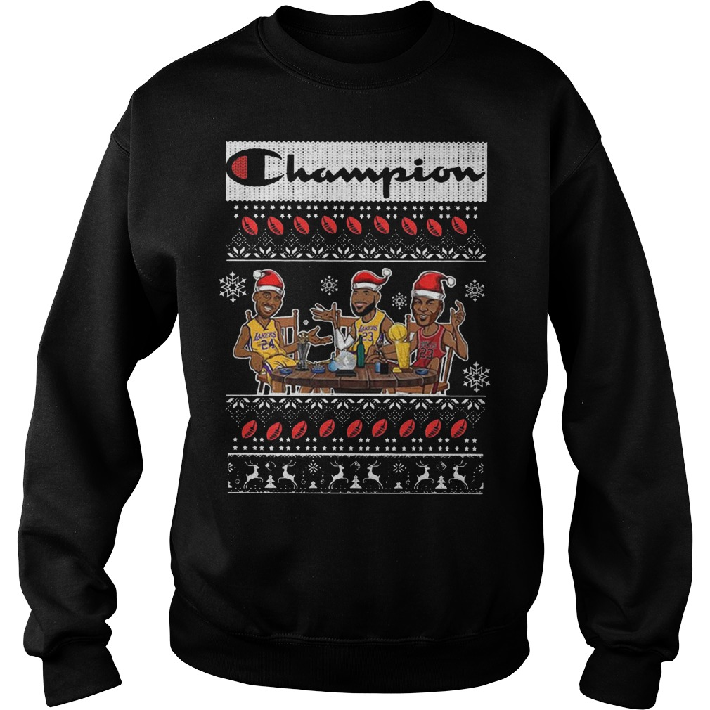 Champion Lebron James Kobe Bryant and Michael Jordan Christmas xmas Sweater