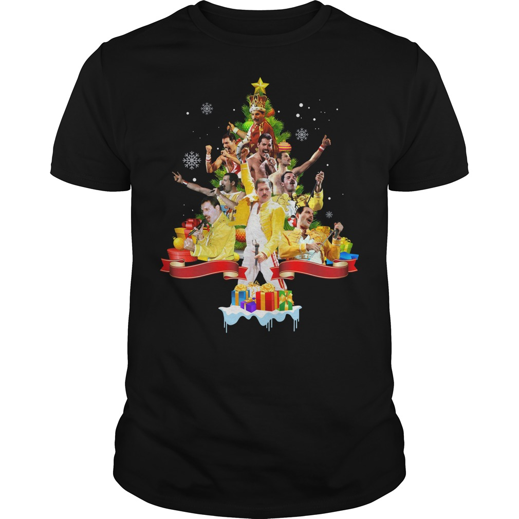 Freddie Mercury Christmas tree shirt