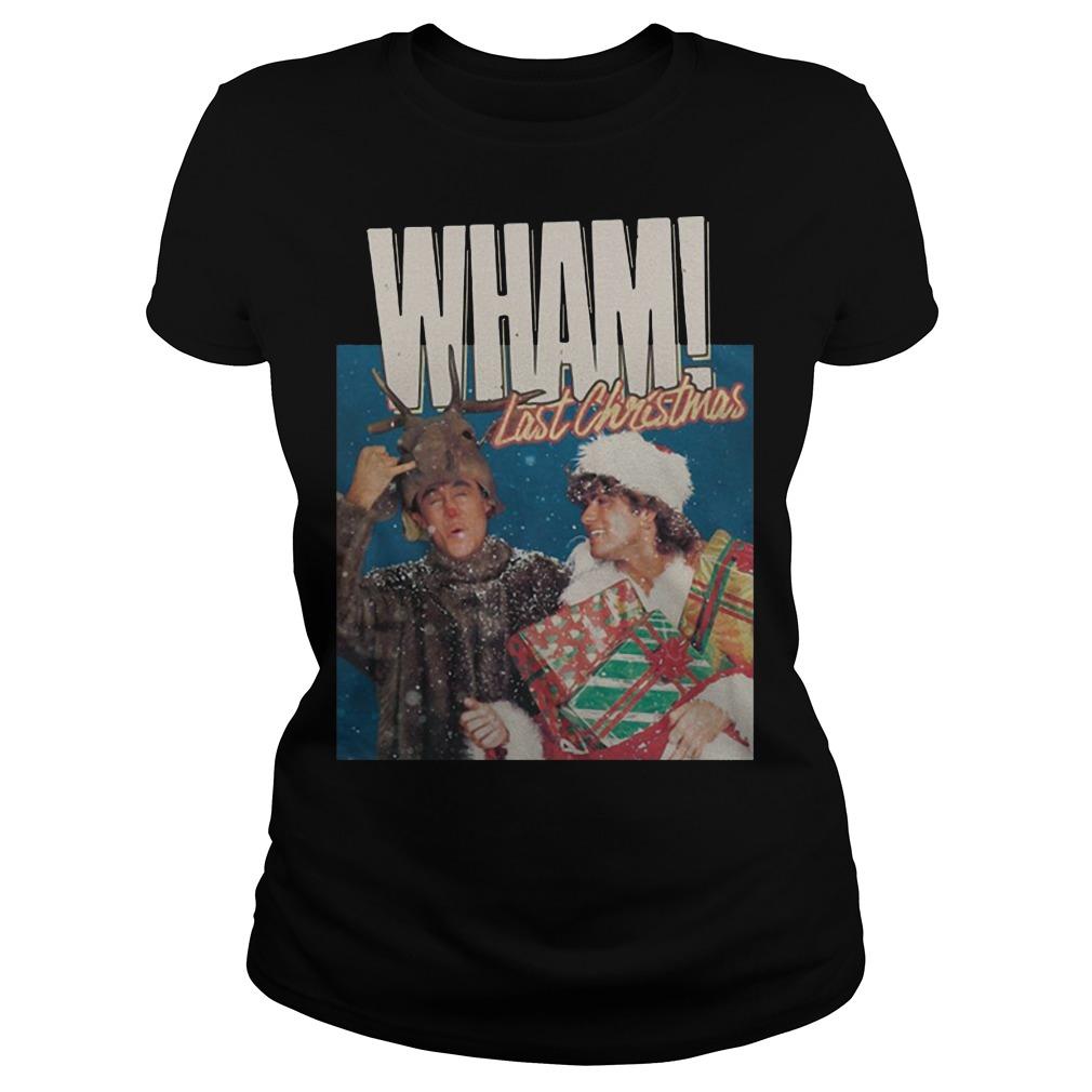 George Michael Last Christmas Wham Ladies Shirt