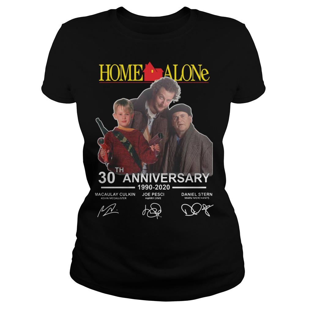 Home Alone 30th Anniversary 1990 2020 Signatures Ladies shirt
