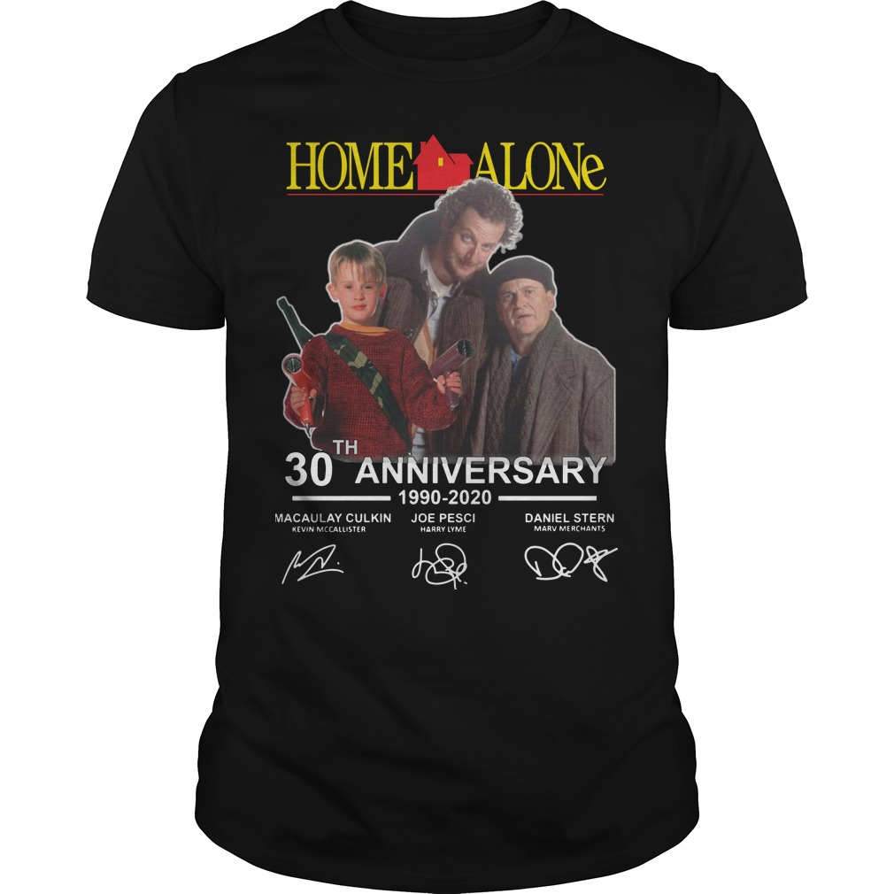 Home Alone 30th Anniversary 1990 2020 Signatures shirt