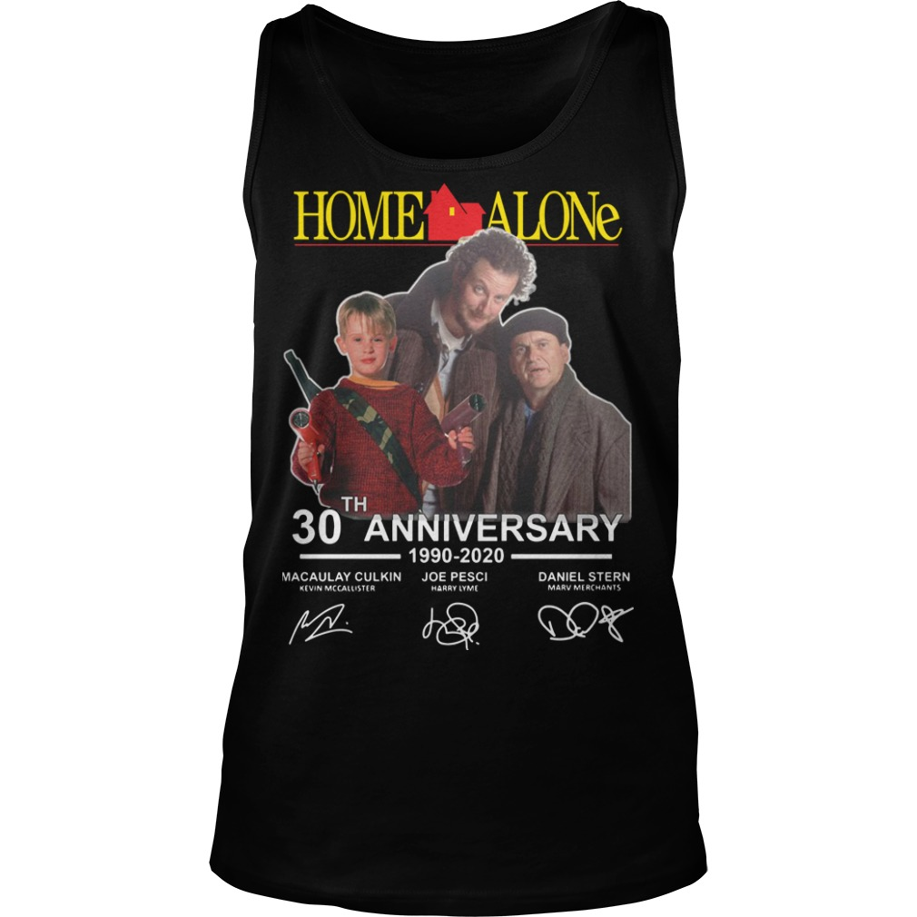 Home Alone 30th Anniversary 1990 2020 Signatures Tank Top