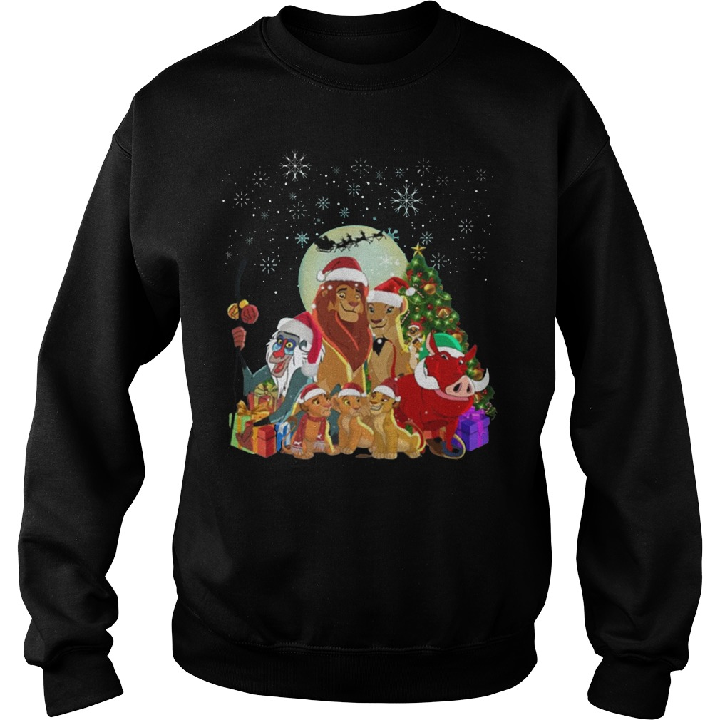 Lion King Family Merry Christmas Sweater