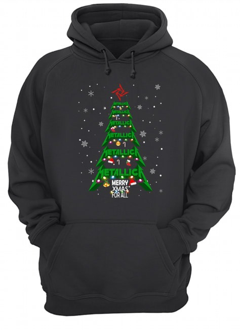 Metallic Merry Xmas for all Hoodie