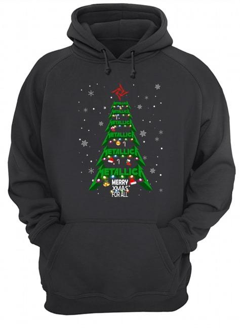 Metallic Merry Xmas for all Hoodie