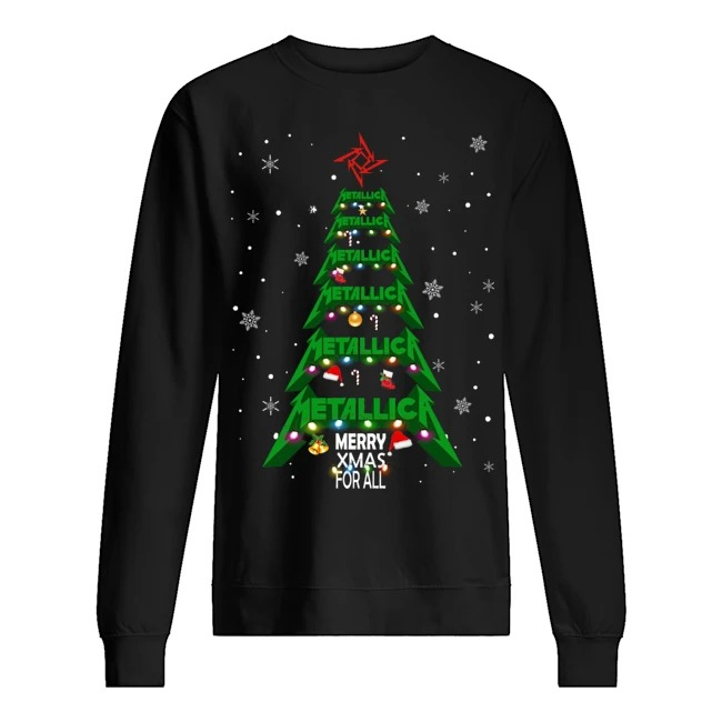 Metallic Merry Xmas for all Sweater