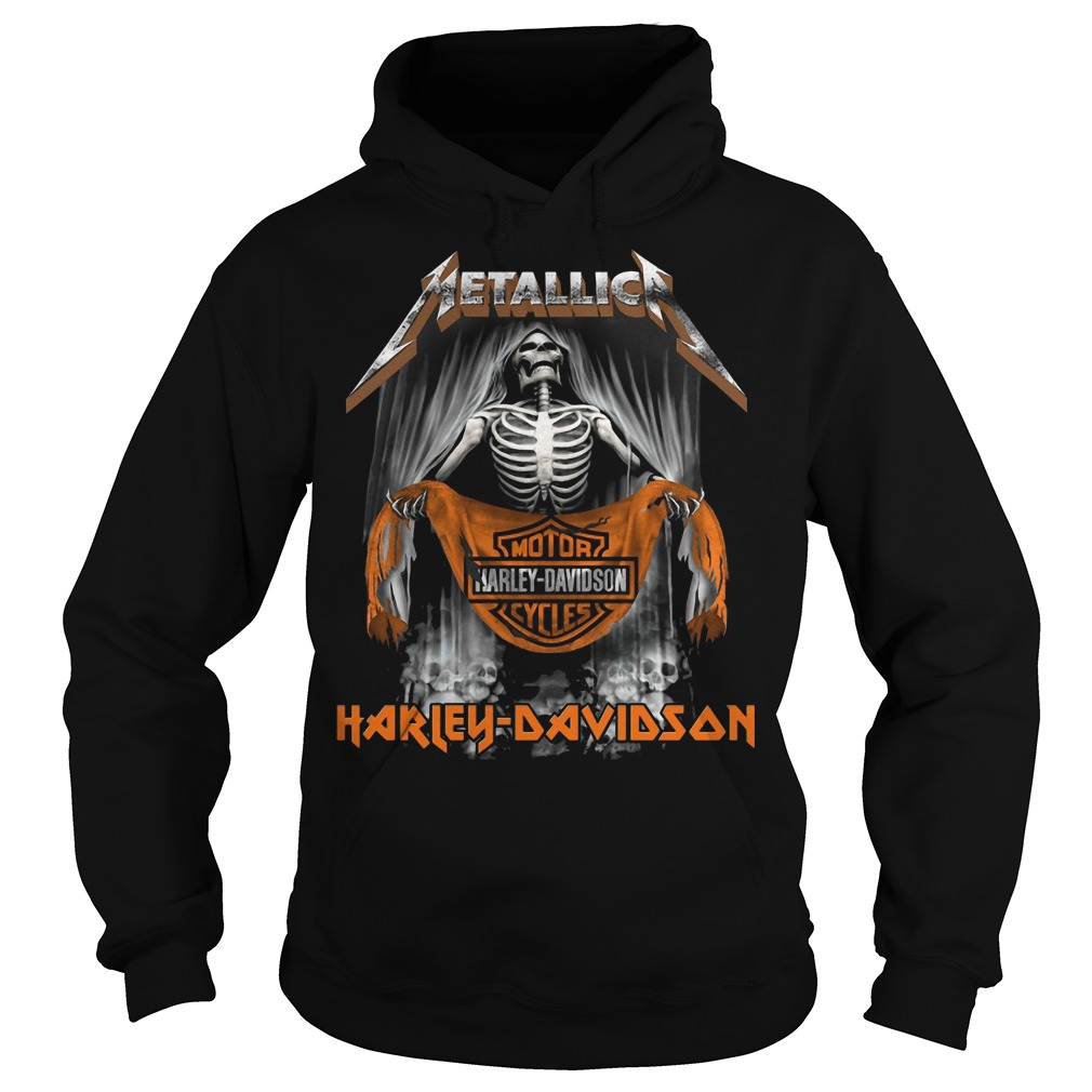 Metallic Motor Harley Davidson Cycles Hoodie