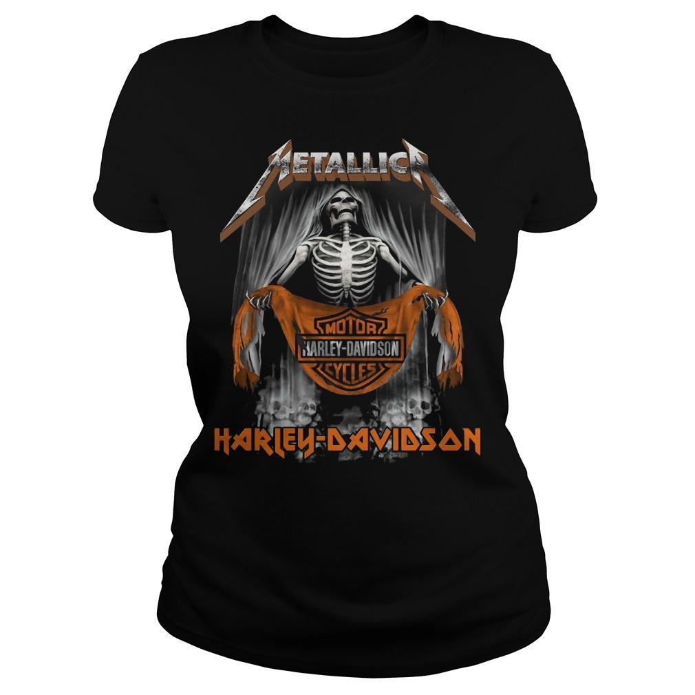 Metallic Motor Harley Davidson Cycles Ladies shirt