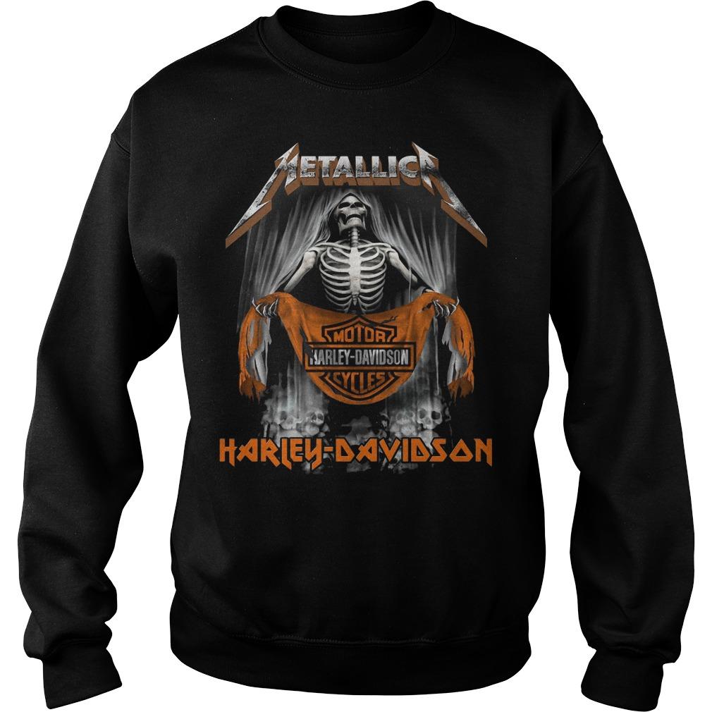 Metallic Motor Harley Davidson Cycles Sweater