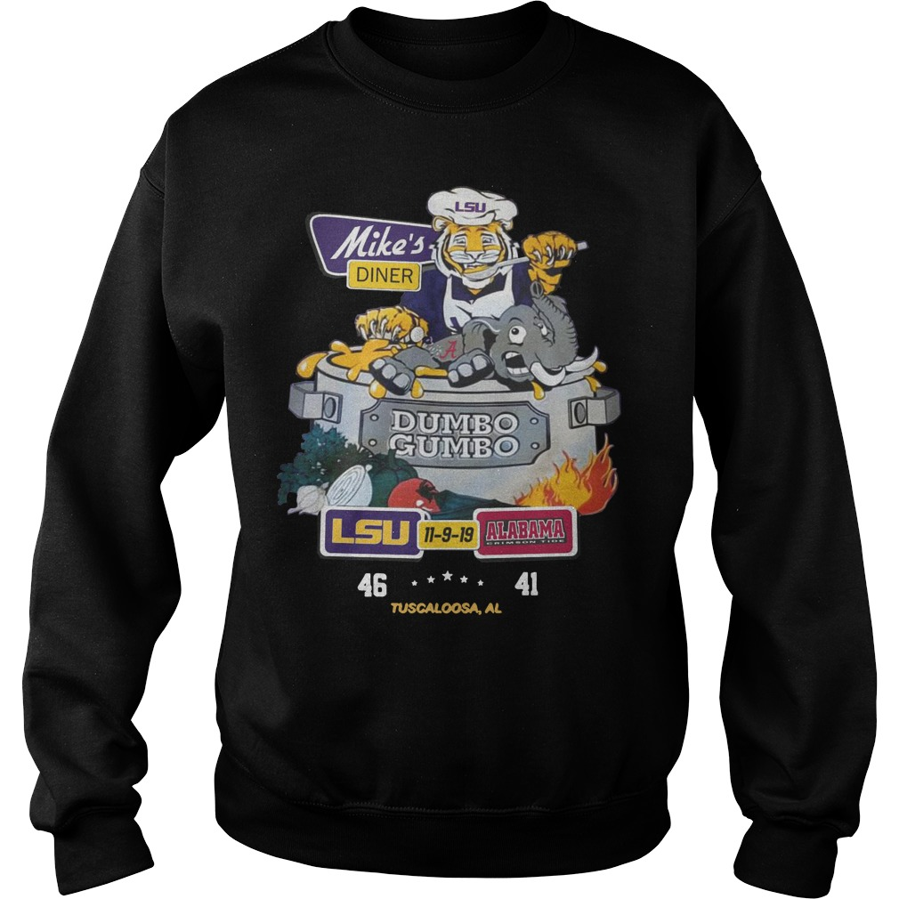 Mike's Diner Dumbo Gumbo LSU 11 9 19 Alabama Sweater