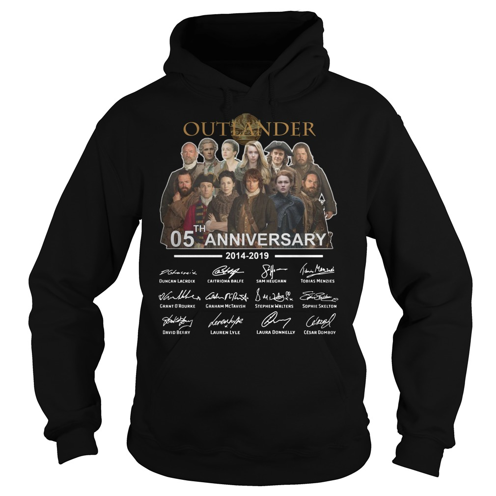 Outlander 05th Anniversary 2014 2019 signatures Hoodie
