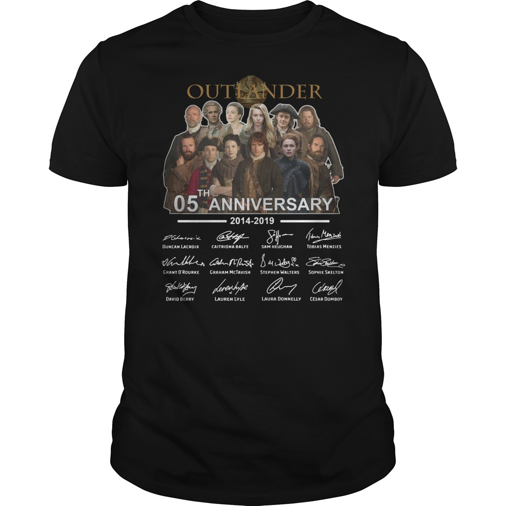 Outlander 05th Anniversary 2014 2019 signatures shirt