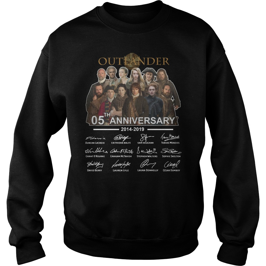 Outlander 05th Anniversary 2014 2019 signatures Sweater