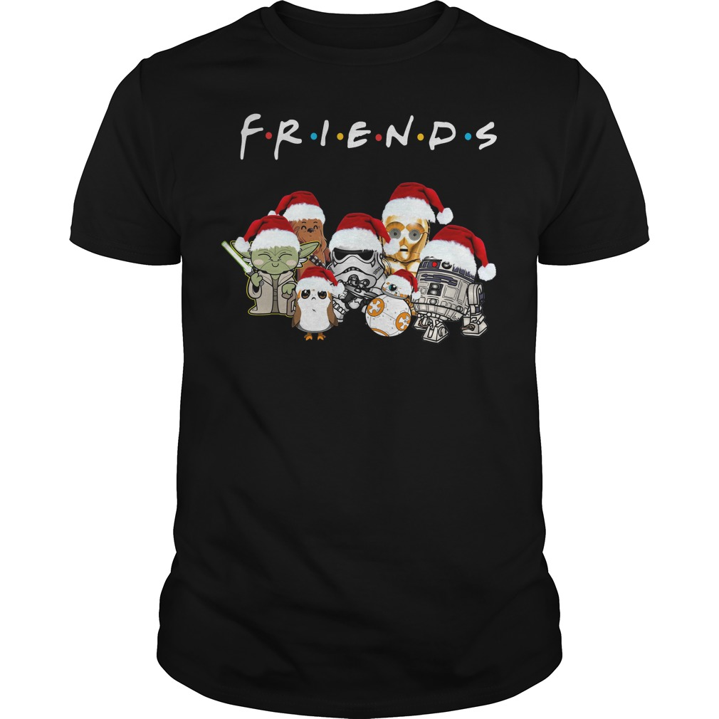 Star Wars Friends Christmas Santa hat shirt