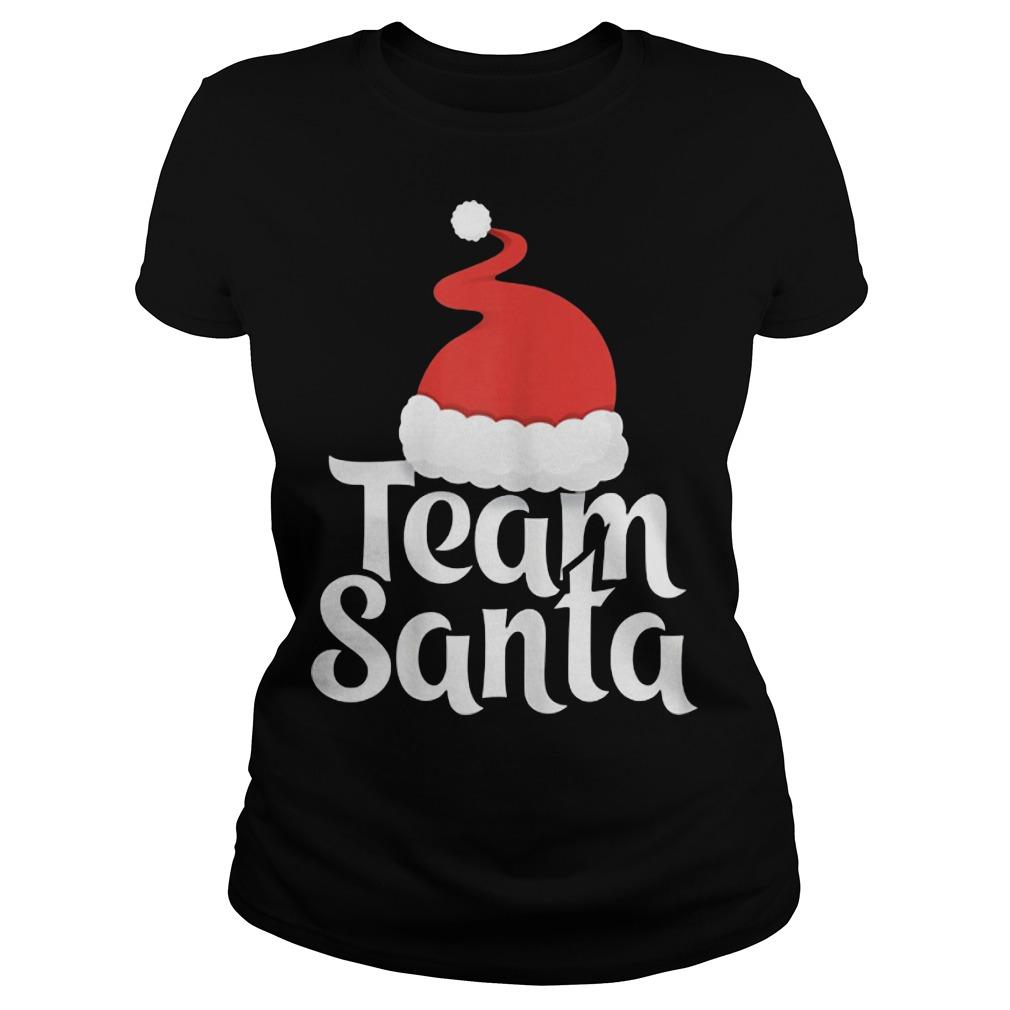 Team Santa Christmas Family Matching Pajama Ladies shirt