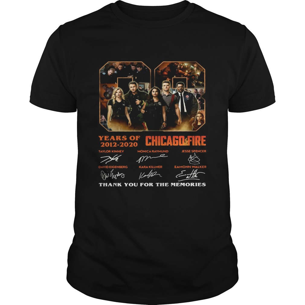 08 Years Of 2012 2020 Chicago Fire Thank You For The Memories Signatures Unisex