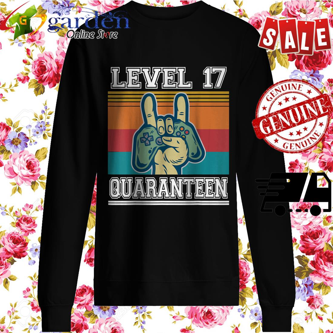 17 Quaranteen Birthday Video Game Vintage sweater