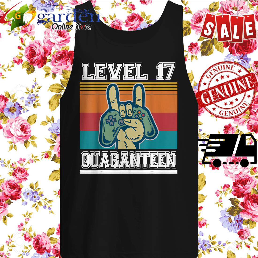 17 Quaranteen Birthday Video Game Vintage tank top