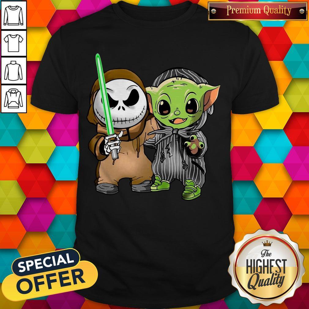 Awesome Baby Yoda And Jack Skellington Shirt