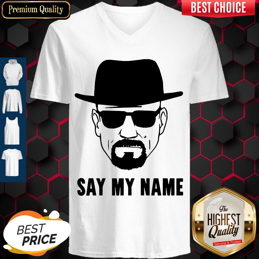 Awesome Breaking Bad Say My Name V-neck