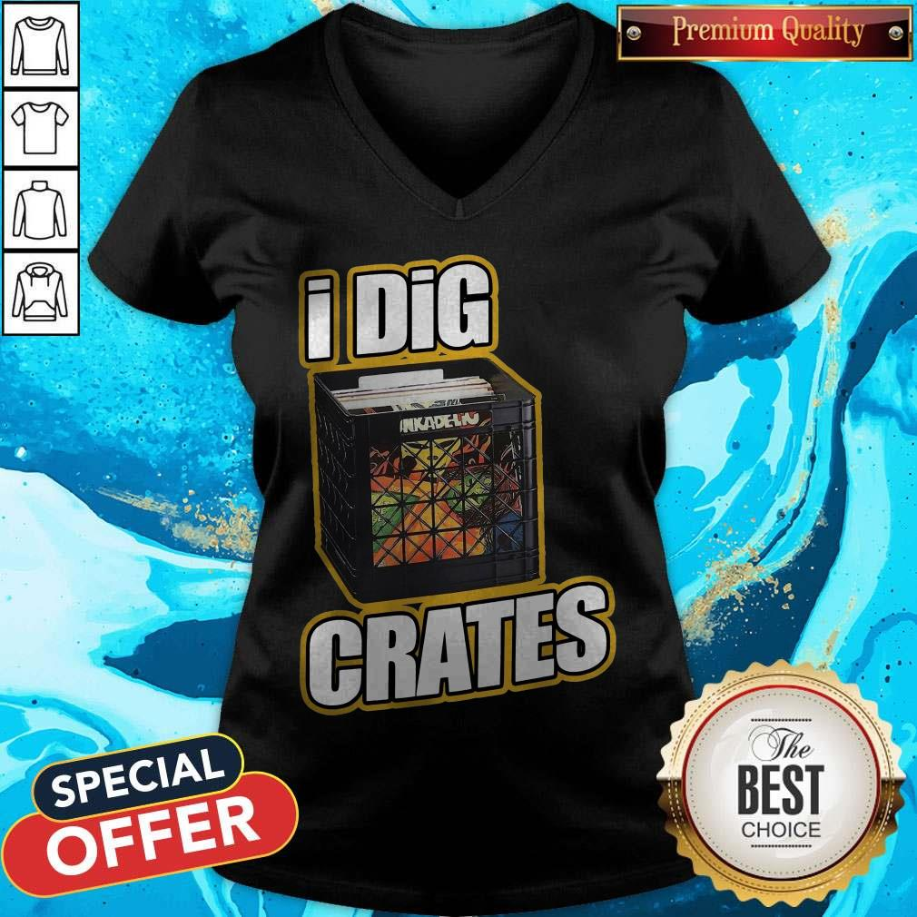 Awesome I Dig Crates V-neck
