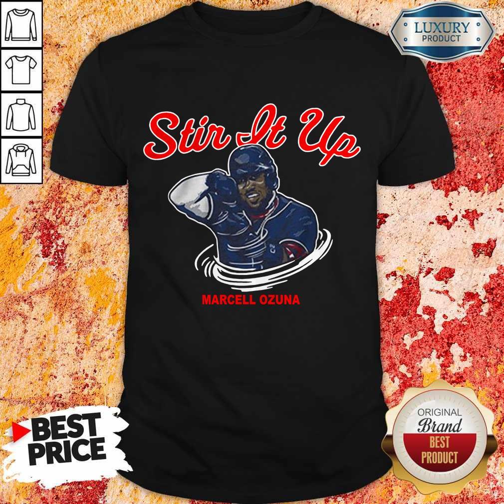 Awesome Marcell Ozuna Stir It Up Shirt
