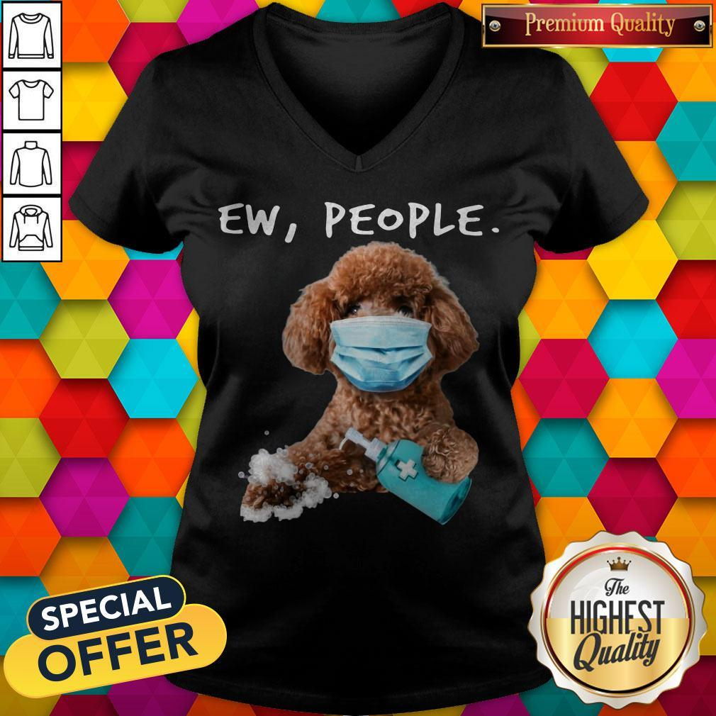 Awesome Poodle Face Mark Ew People V-neck