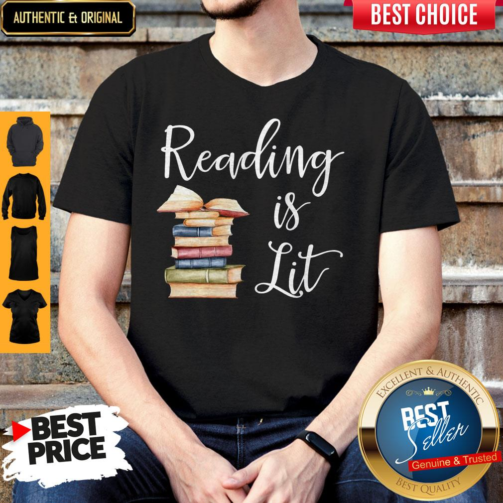 Awesome Reading Is Lit Book Shirt