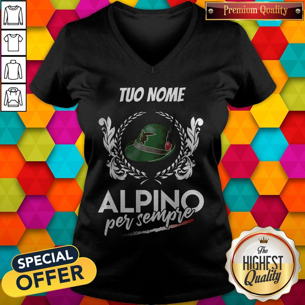 Awesome Tuo Nome Alpino Per Sempre V-neck