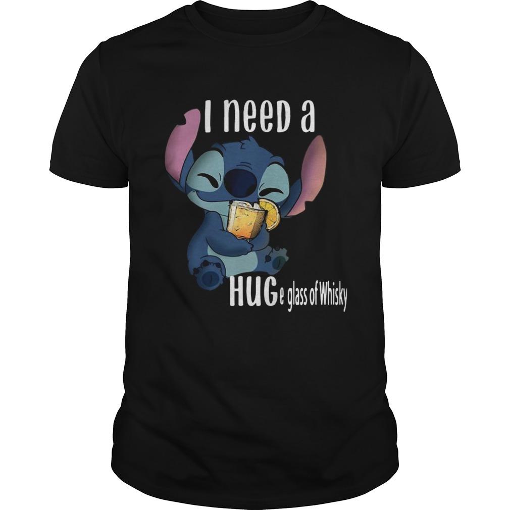 Baby Stitch I Need A Hug A Glass Of Whisky Unisex