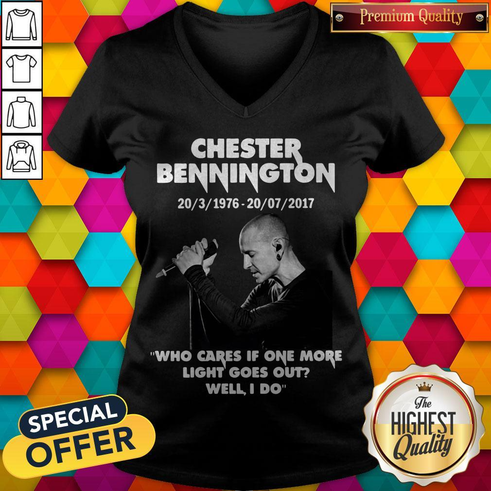 Chester Bennington 20 3 1976 20 07 2017 Who Cares If One More Light Goes Out Will I Do V-neck