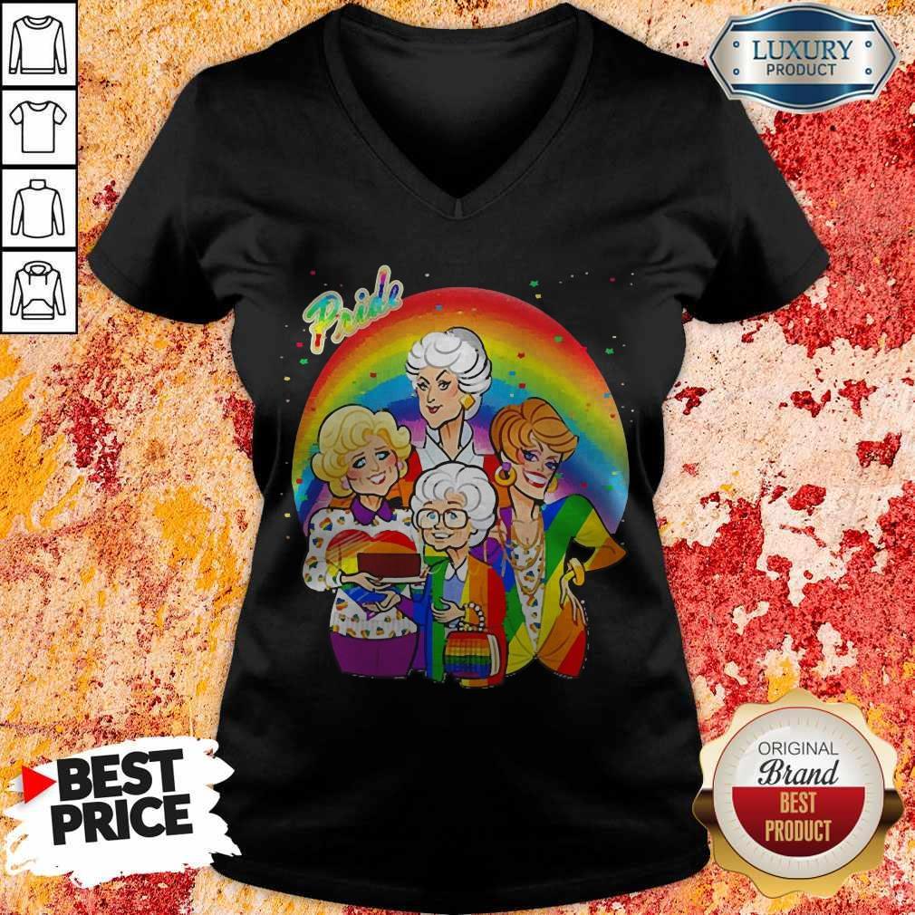 Awesome Pride Golden Girl LGBT 2020 V-neck