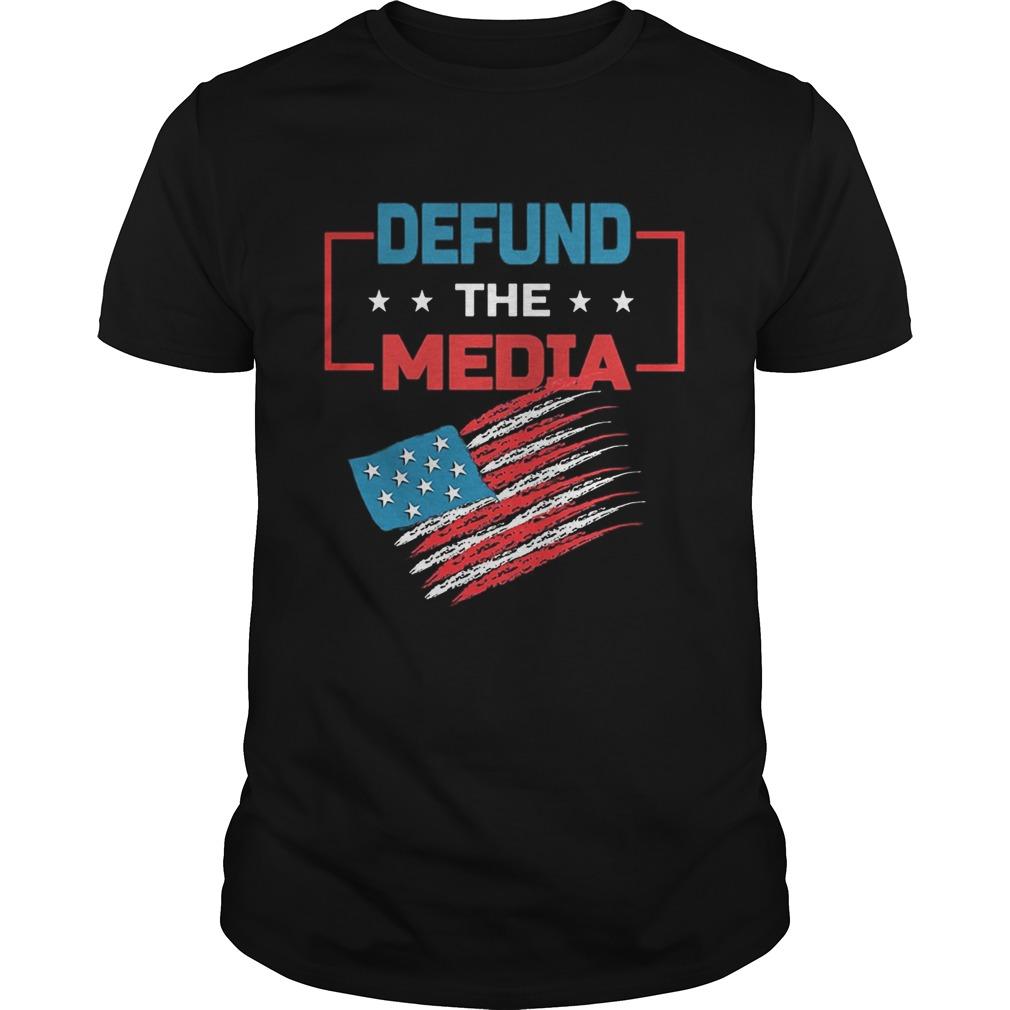 Defund the media American Flag Unisex