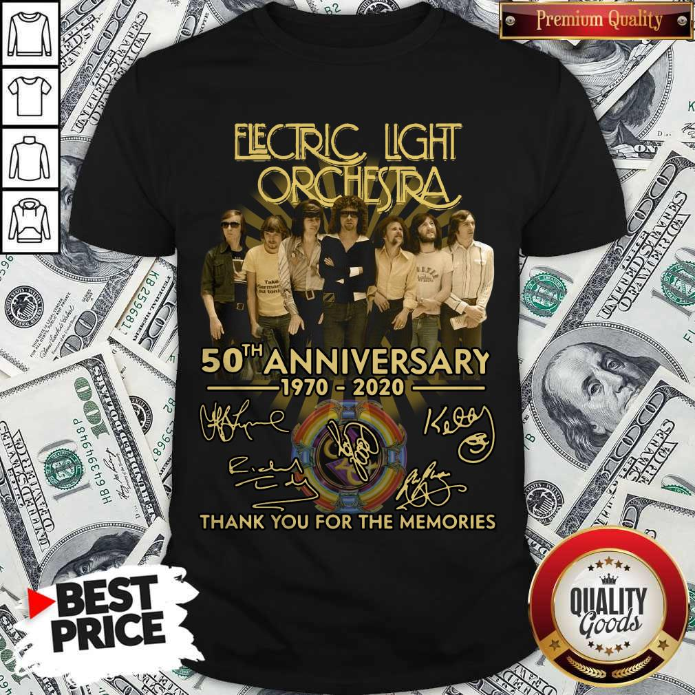 Electric Light Orchestra 50th Anniversary 1970 2020 Thank You For The Memories Signature Shirt