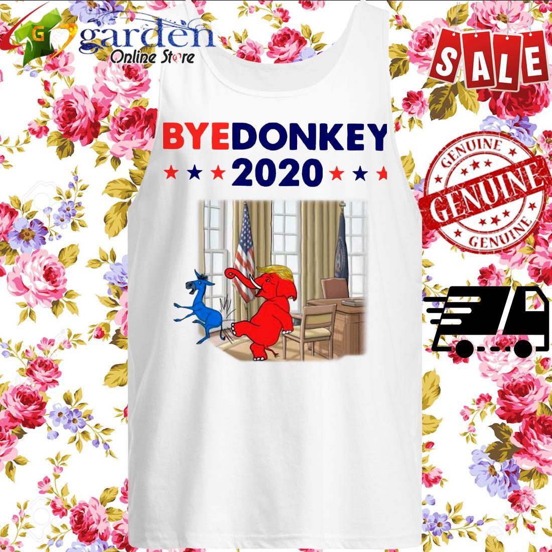Elephant Trump Bye Donkey 2020 tank top