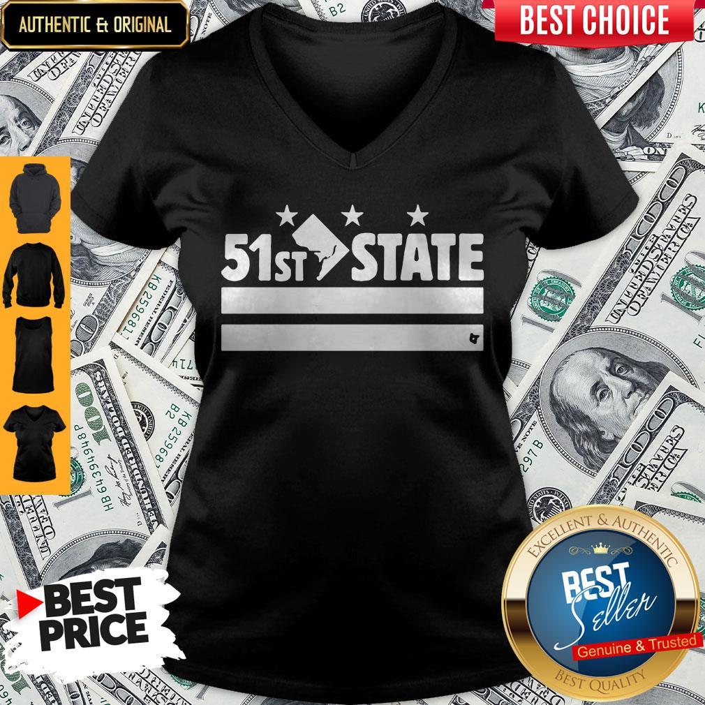 Funny 51st State Washington D.C V-neck
