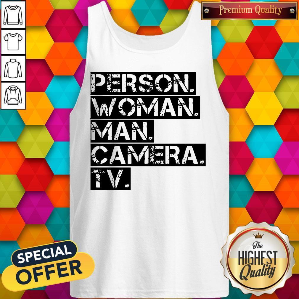 Funny Person Woman Man Camera TV US Tank Top