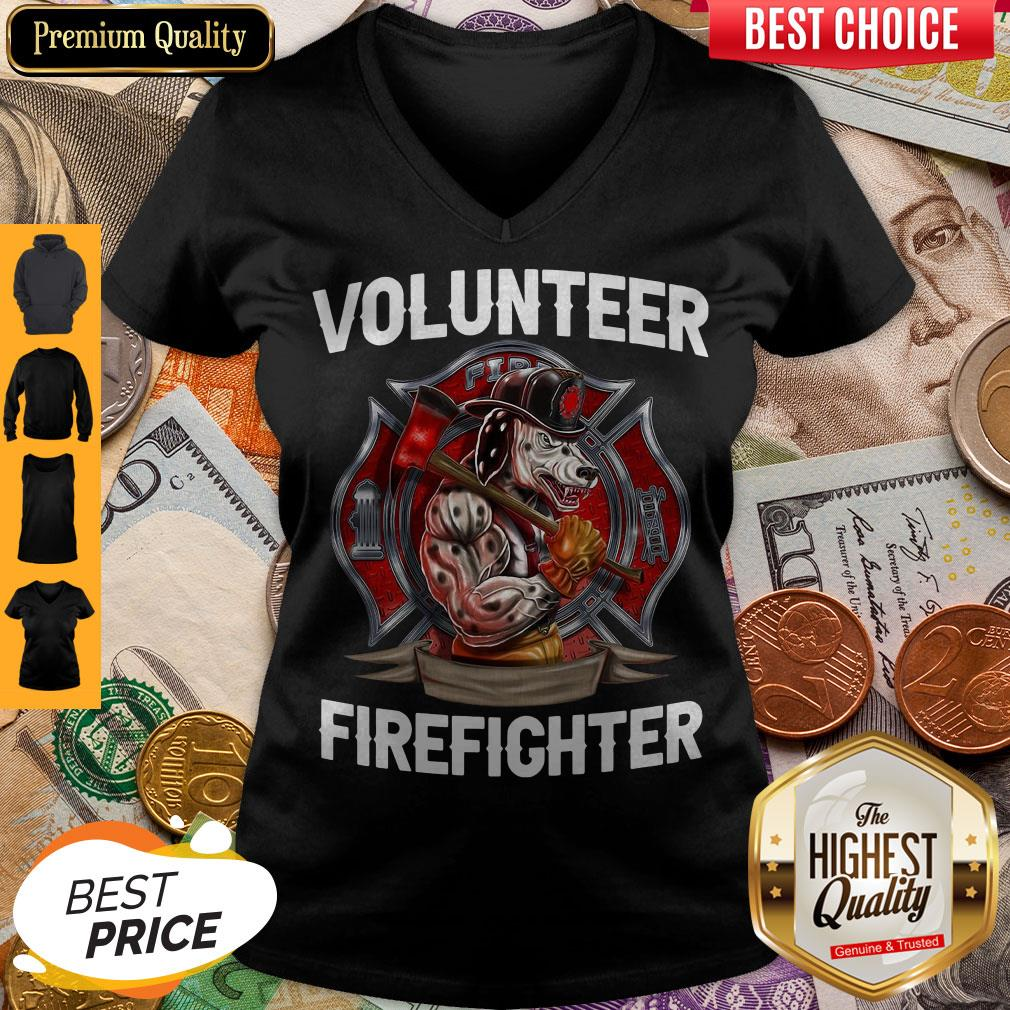 Funny Volunteer Firefighter V-neck