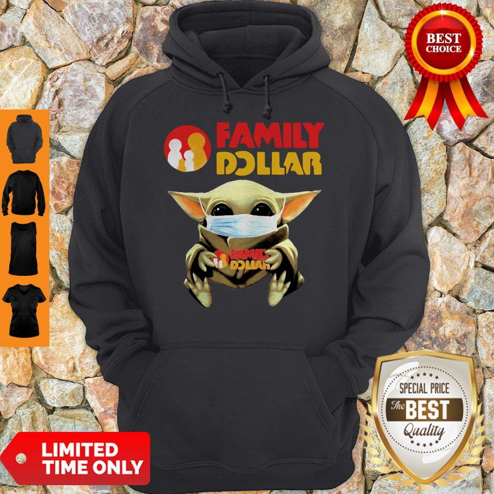 Official Mask Baby Yoda Hugging Family Dollar Hoodie