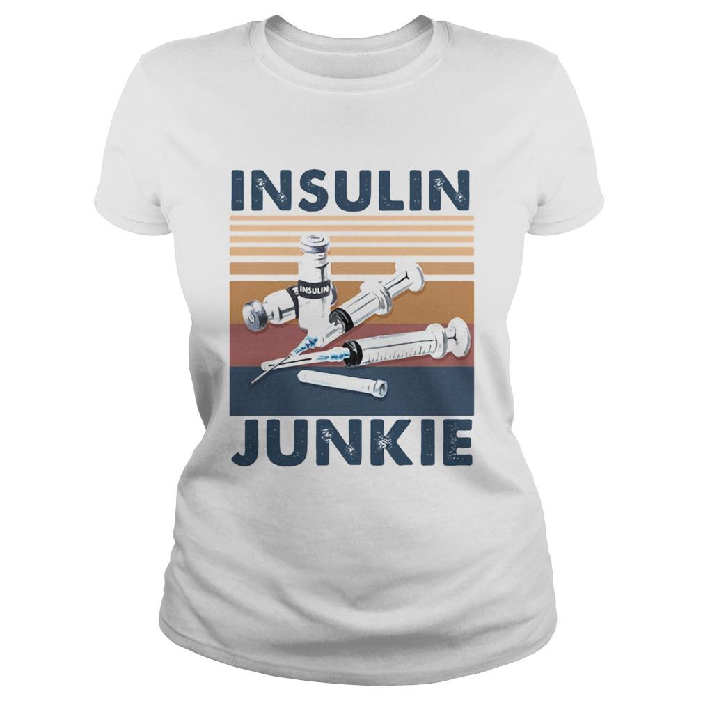 Insulin Junkie Vintage Retro Classic Ladies