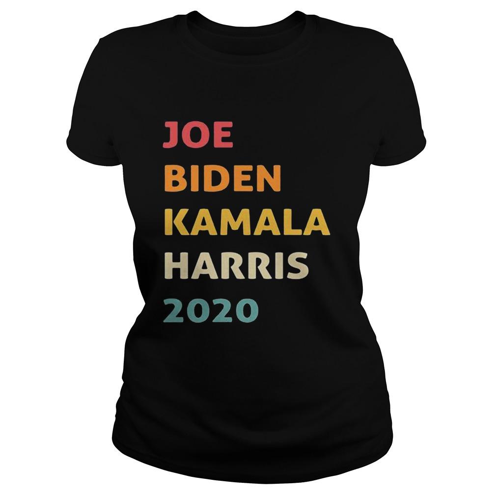Joe biden kamala harris 2020 retro black Classic Ladies