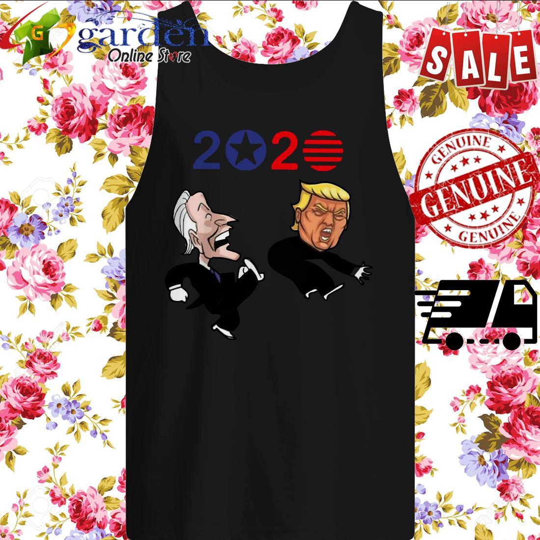 Joe Biden kick Donald Trump American 2020 tank top