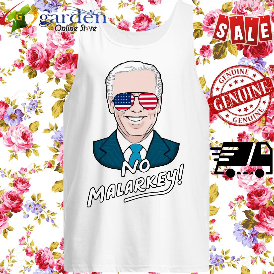 Joe Biden No Malarkey American Flag tank top