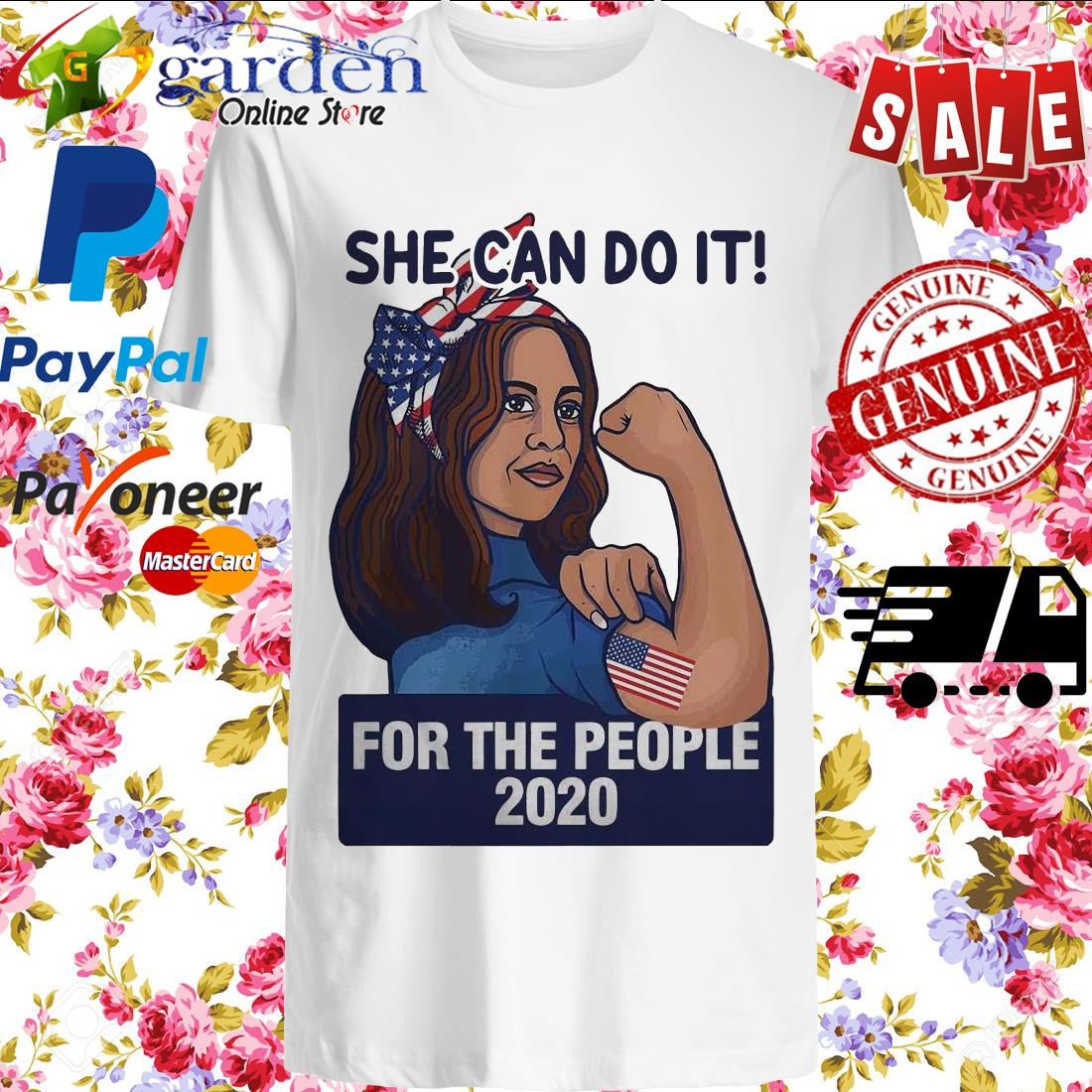 Kamala Harris She Can Do It For The People 2020 Shirt Tank Top V Neck For Men And Women