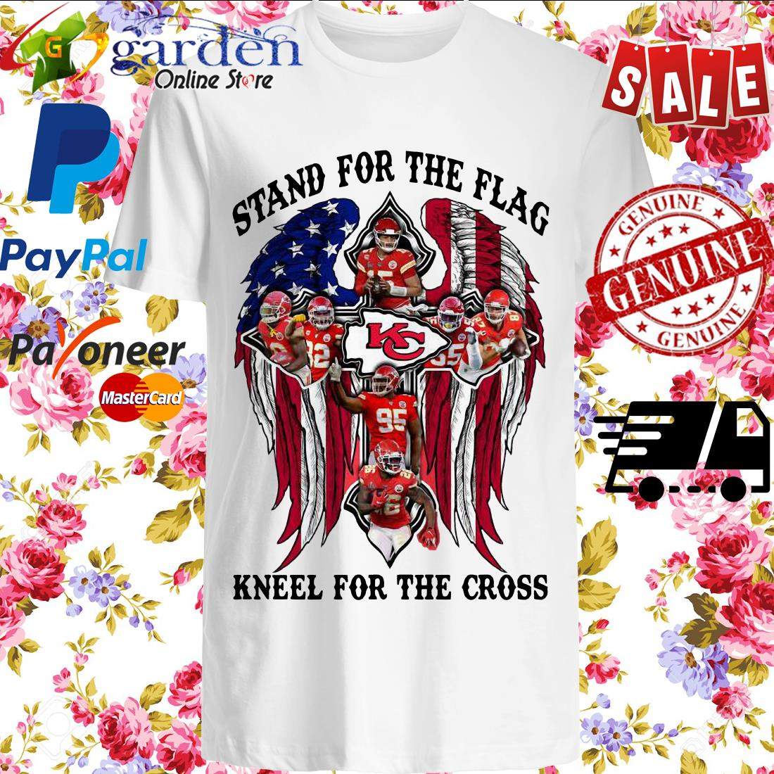 Kansas City Stand For The Flag Kneel For The Cross American Flag Shirt