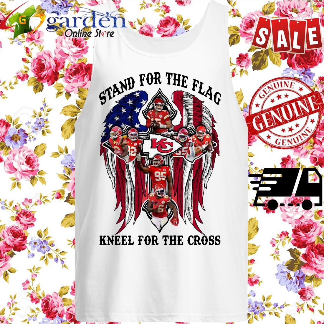 Kansas City Stand For The Flag Kneel For The Cross American Flag tank top