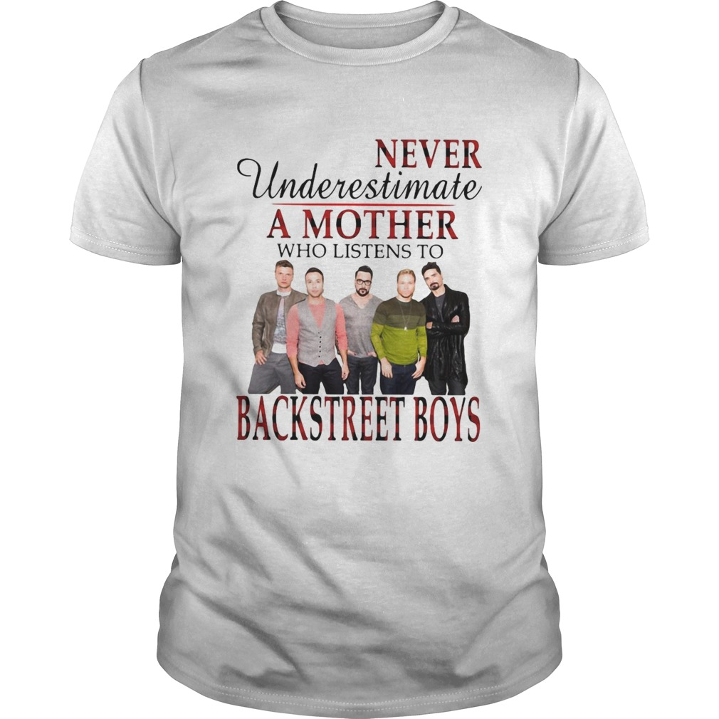 Never Underestimate A Mother Who Listens To Backstreet Boys Unisex