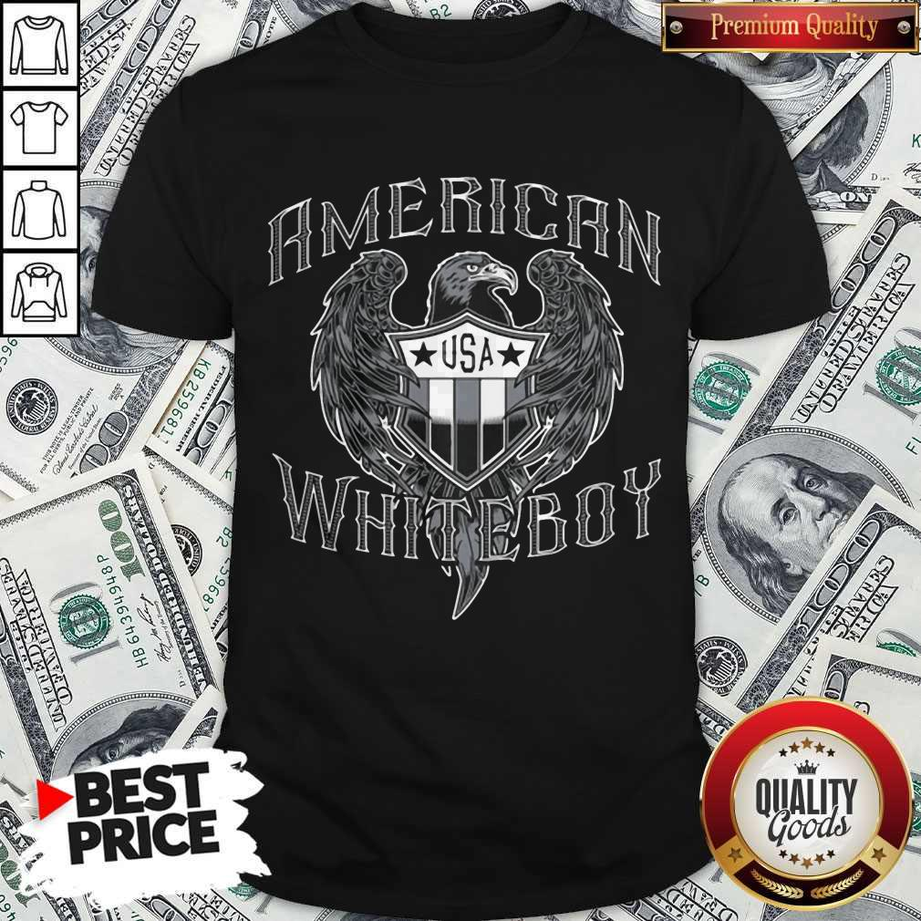 Nice American White Boy Eagle Flag Shield Usa Shirt