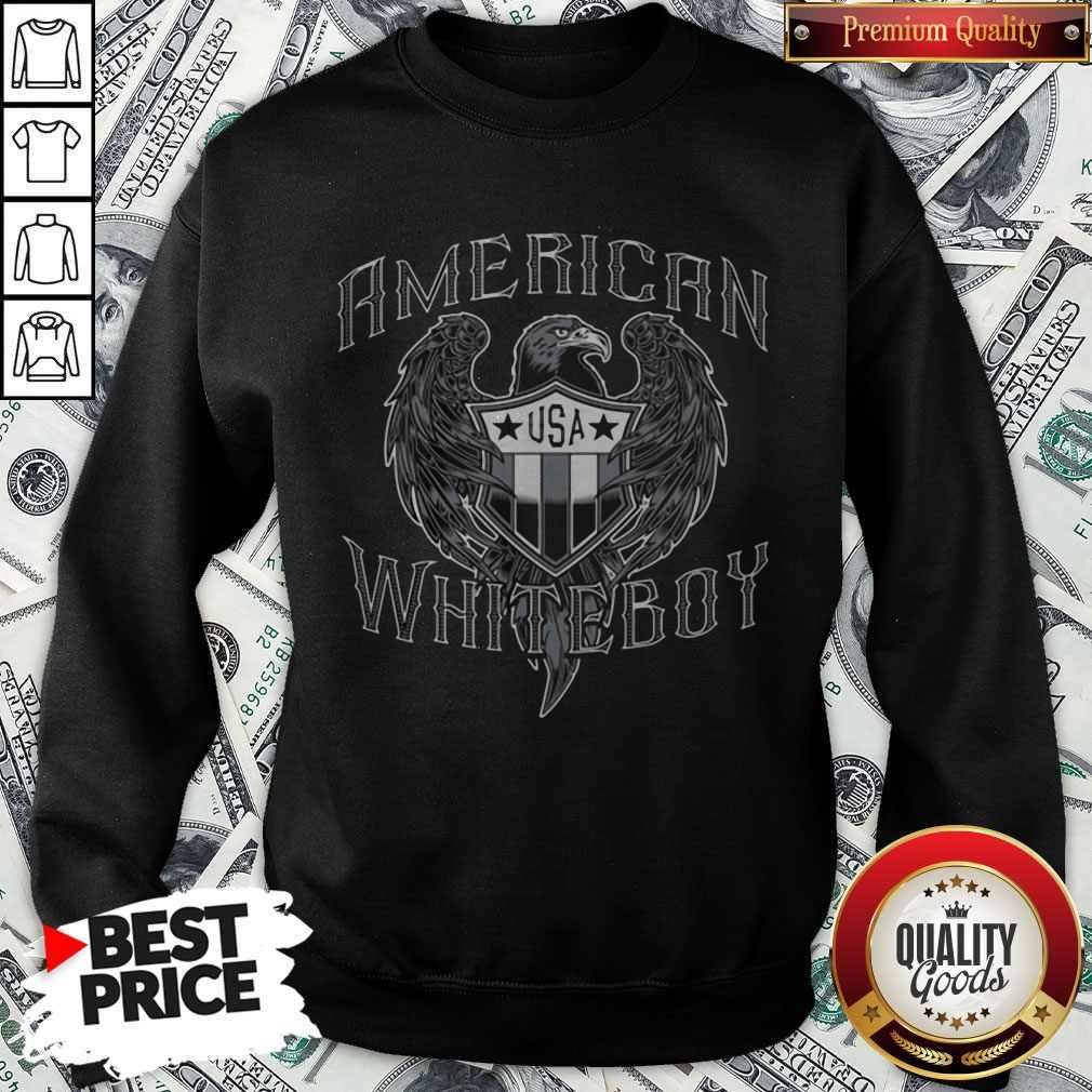 Nice American White Boy Eagle Flag Shield Usa Sweatshirt